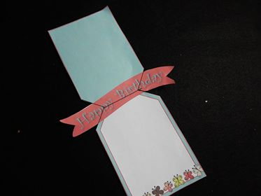 opened pop out banner card made from a printable card making kit
