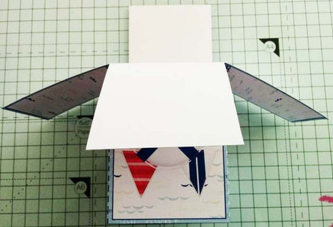 Assembled pop up box from a printable kit
