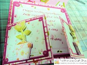 decoupage applied to the card