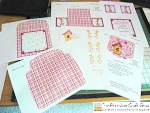 printable sheets for gatefold envelope card kit