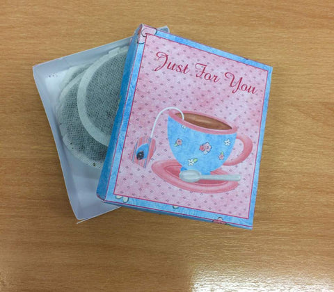 teabag gift box made during group activities in a homeless hostel