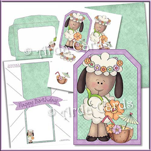 contents of a pop out banner printable card making kit