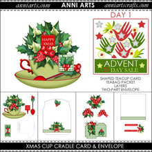 Load image into Gallery viewer, Christmas Cup Cradle Card - Advent Sale Day 1