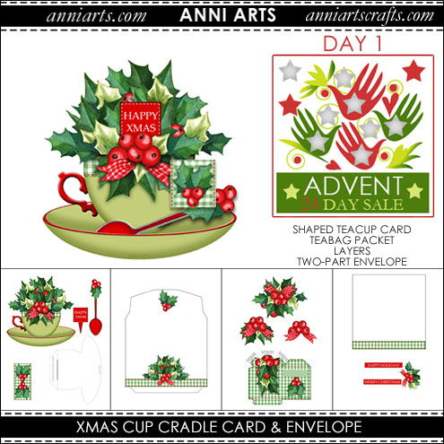 Christmas Cup Cradle Card - Advent Sale Day 1