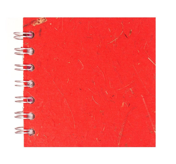 Ruby Red 4x4 Sketchbook - WHITE Pages - 150gsm Cartridge Paper