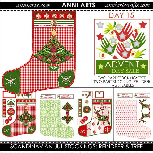 christmas printables 15 Scandinavian Christmas Reindeer and Tree Stockings