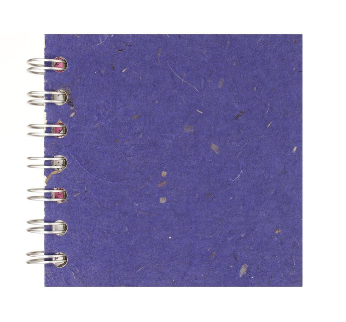 Sapphire Blue 4x4 Sketchbook - WHITE Pages - 150gsm Cartridge Paper