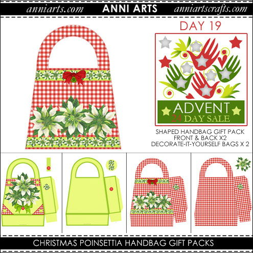christmas printables 19 Christmas Poinsettia Handbag Gift Packs