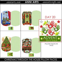 Load image into Gallery viewer, christmas printables 20 Christmas House Pillow Packs x4