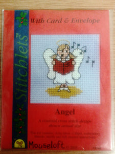 Angel Cross Stitch Card Kit - The Printable Craft Shop