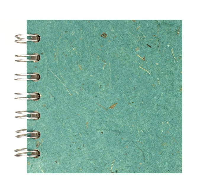 Turquoise 4x4 Sketchbook - WHITE Pages - 150gsm Cartridge Paper
