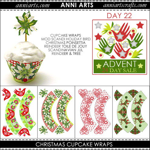 christmas printables 22 Xmas Cupcakes x 8 in Four Designs