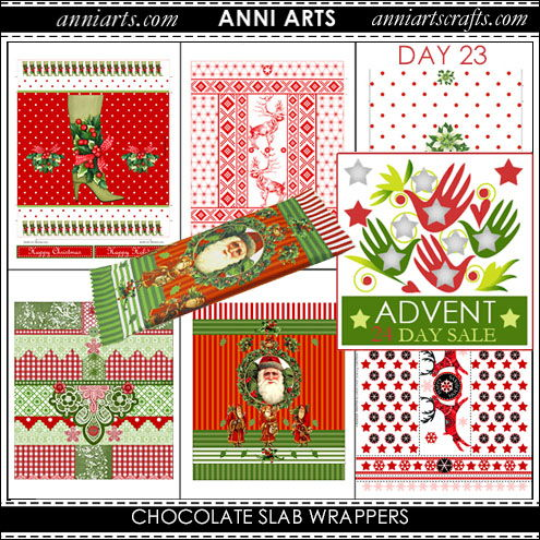christmas printables 23 Xmas Chocolate Slab Wraps x 6