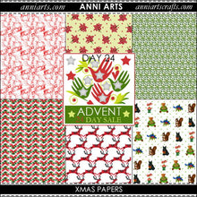 Load image into Gallery viewer, chinese printables 24 Xmas Papers x 6
