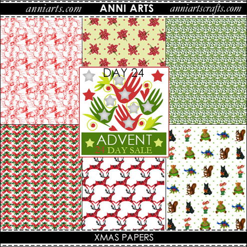 chinese printables 24 Xmas Papers x 6