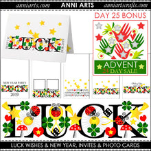 Load image into Gallery viewer, christmas printables advent bundle new year bonus
