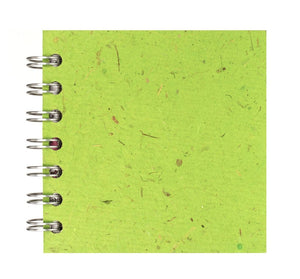 Emerald Green 4x4 Sketchbook - WHITE Pages - 150gsm Cartridge Paper