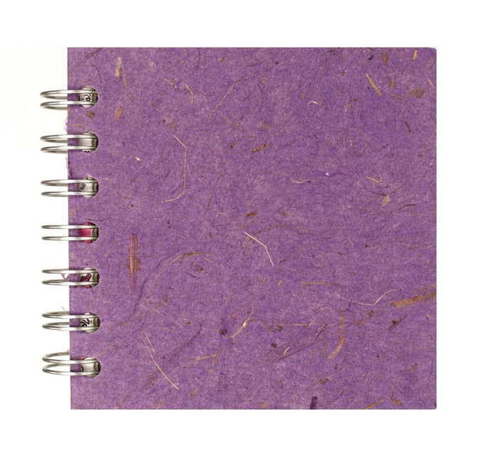 Amethyst Purple 4x4 Sketchbook - WHITE Pages - 150gsm Cartridge Paper
