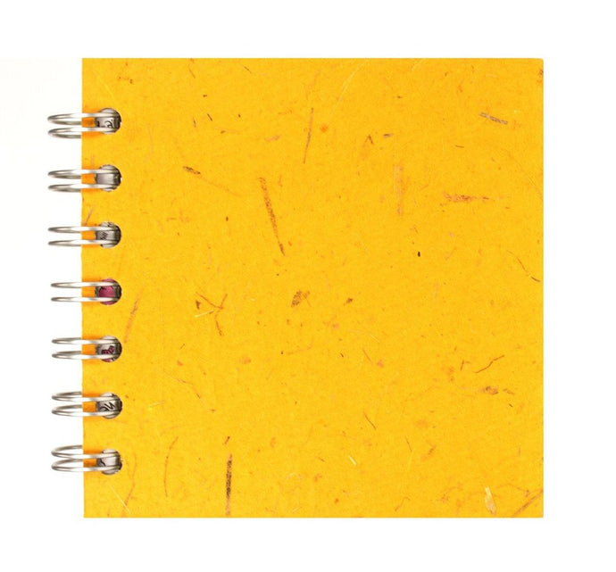 Yellow 4x4 Sketchbook - WHITE Pages - 150gsm Cartridge Paper