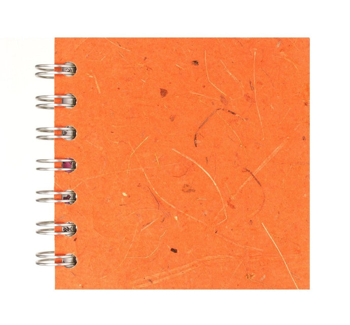 Tigerlilly Orange 4x4 Sketchbook - WHITE Pages - 150gsm Cartridge Paper