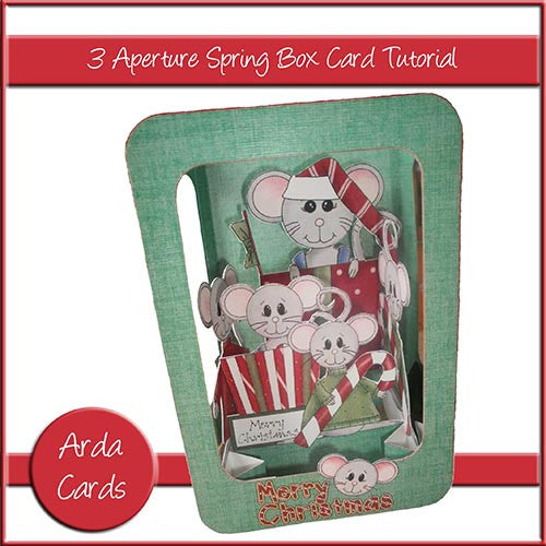 3 Aperture Spring Box Card Photo Tutorial - The Printable Craft Shop