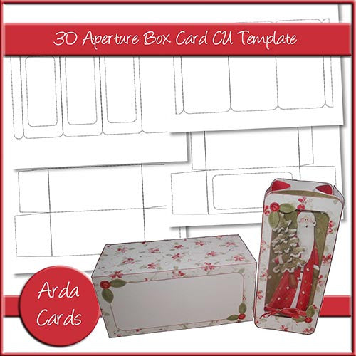 3D Aperture Box Card Template - The Printable Craft Shop