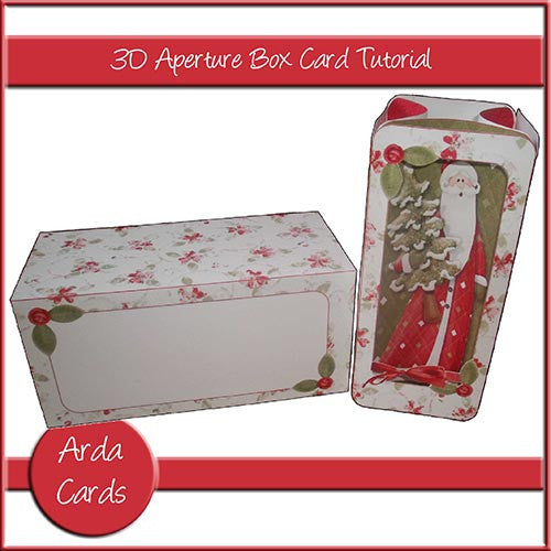 3D Aperture Box Card Tutorial - The Printable Craft Shop