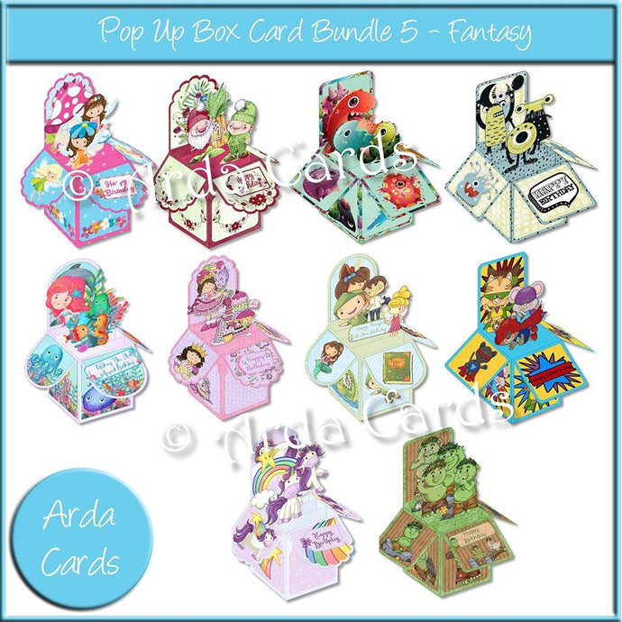 Pop Up Box Card Bundle 5 - Fantasy