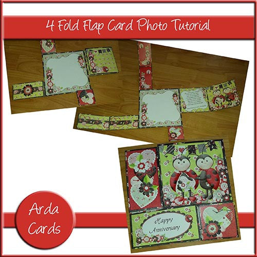 Free 4 Fold Flap Card Photo Tutorial - The Printable Craft Shop - 1