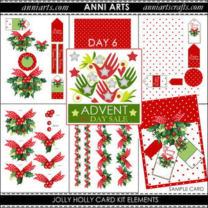 Jolly Holly Card Kit - Advent Sale Day 6