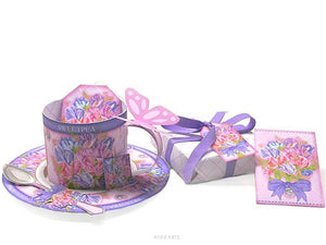 April Birth Flower Printable Cup and Gifts