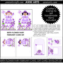 Load image into Gallery viewer, February Birth Flower Fairy Printable Card Making Kit
