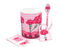 Load image into Gallery viewer, 3D Mug & Latte Spoon Set  - January Birth Flower & Gem Printables