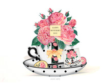 Load image into Gallery viewer, june birth flower printable teacup card