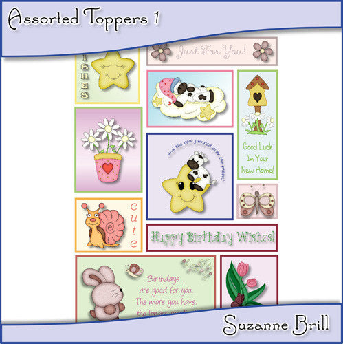 Assorted Toppers - The Printable Craft Shop