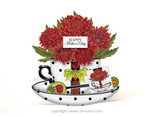 Load image into Gallery viewer, november birth flower printable teacup card