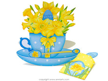 Load image into Gallery viewer, printable easter card with teabag