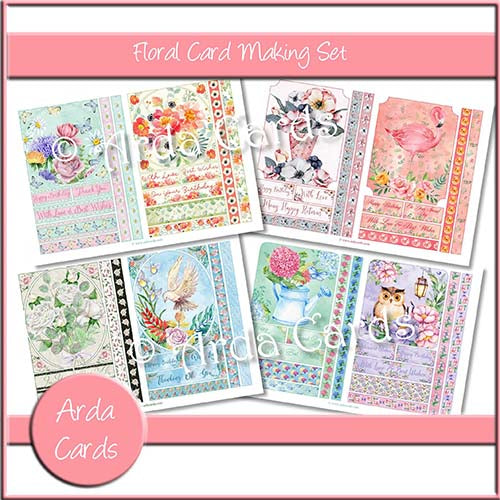 Floral Card Making Set