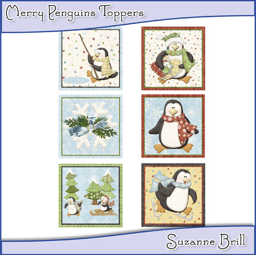 Merry Penguins Toppers - The Printable Craft Shop