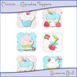 Mmmm... Cupcake Toppers - The Printable Craft Shop
