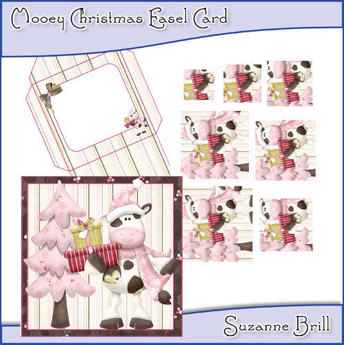 Mooey Christmas Easel Card - The Printable Craft Shop