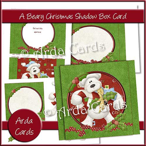 A Beary Christmas Shadow Box - The Printable Craft Shop