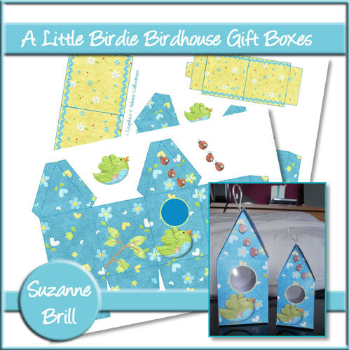 A Little Birdie Birdhouse Gift Boxes - The Printable Craft Shop