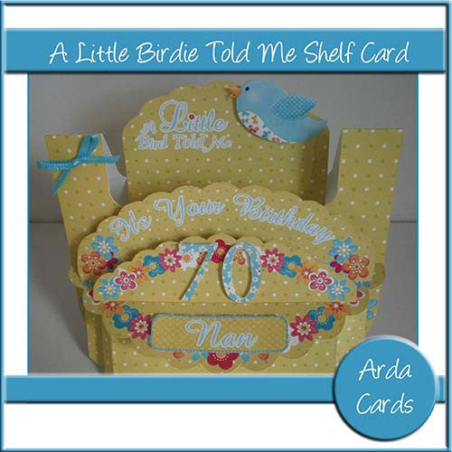 A Little Birdie Told Me Shelf Card - The Printable Craft Shop