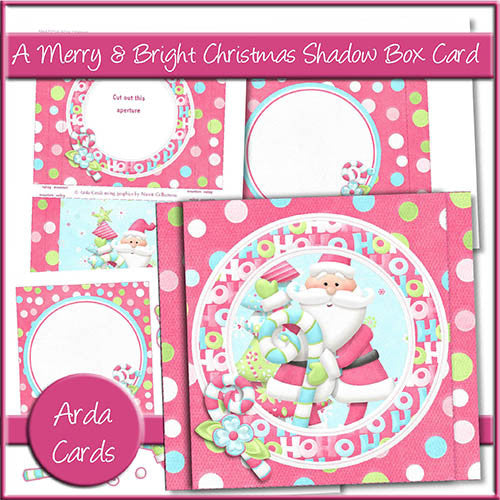 A Merry & Bright Christmas Shadow Box Card - The Printable Craft Shop