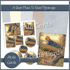 A Quiet Place To Read Pyramage Set - The Printable Craft Shop