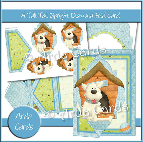 A Tall Tail Upright Diamond Fold Card - The Printable Craft Shop