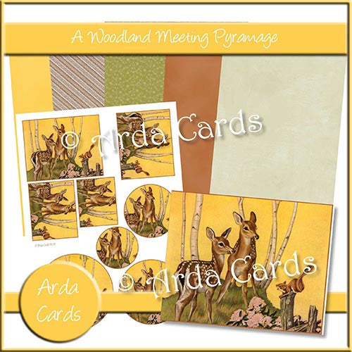 A Woodland Meeting Pyramage - The Printable Craft Shop