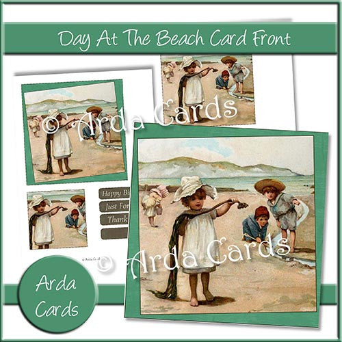 A Day At The Beach Card Front - The Printable Craft Shop