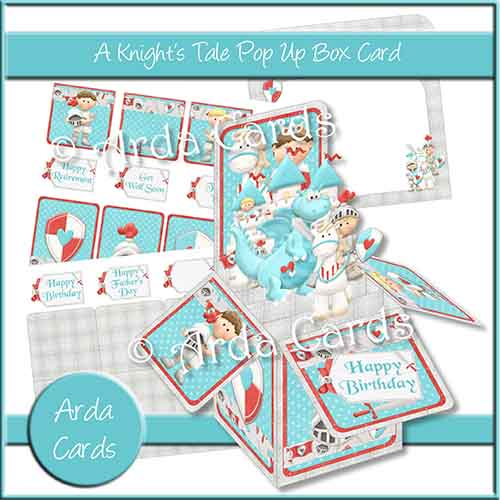 A Knight's Tale Pop Up Box Card